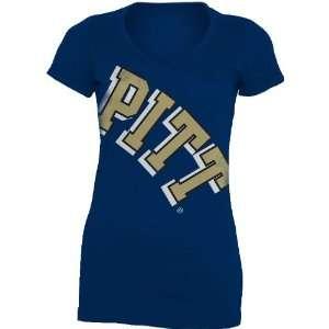 NCAA Pittsburgh Panthers Gigantor Ladies V Neck Tee Shirt