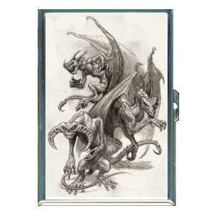 Evil Dragon Demon Monsters ID Holder, Cigarette Case or Wallet: MADE