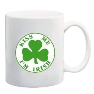 KISS ME IM IRISH Mug Coffee Cup 11 oz ~ Ireland St
