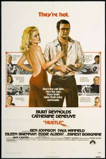 Hustle 1975 Original Movie Poster   Burt Reynolds