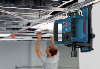 Bosch's GRL 300 HV self leveling rotating laser has bright lights