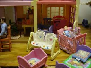 FISHER PRICE LOVING FAMILY TWIN TIME DOLLHOUSE! HUGE LOT LOADED
