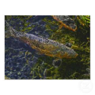 Electric Koi Swimming Through A Sea Of Colors Poster from Zazzle