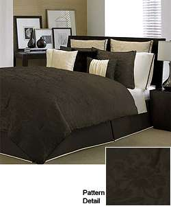 Kensington Chocolate 4 piece Comforter Set  Overstock