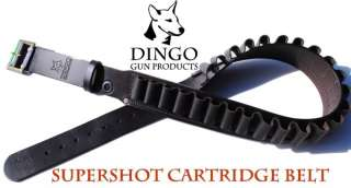 LEATHER SHOTGUN CARTRIDGE BELT ~ SUPERSHOT 12ga 36 46