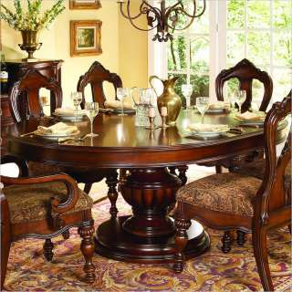 Homelegance Prenzo Round/Oval Dining Table in Warm Brown Finish   1390