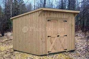 Garden Storage Lean To Roof Shed Plans #8078 |