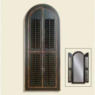 Bassett Mirror Vintage Black Venetian Wall Mirror Decor