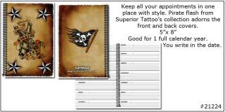 Tattoo Flash Appointment Book Pirate Life Canon Flag