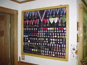 Medals Display Case / Sports Military Medals / Ribbons