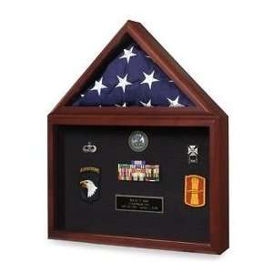 Medal  display case, Army flag and medal display case: Home & Kitchen