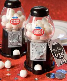 72   Black & White Gumball Machines   Party Favors