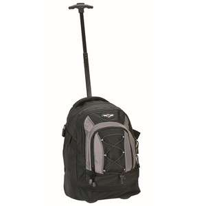 Rockland 19 inch Rolling Backpack   FAA Carry On Approved   Black