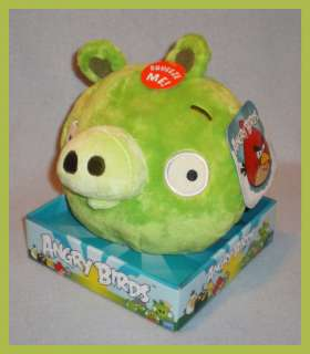 Angry Birds 8 Plush Green Pig with Sound NEW