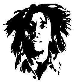 Bob Marley Reggae Rasta Vinyl Decal Sticker