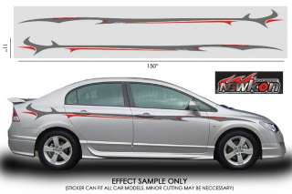 VINYL AUTO BODY GRAPHICS STICKER DECAL MAZDA 3 6 MX3 S