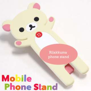3x Cute Rilakkuma Black Cat Lazy Bear Iphone 4G Stand