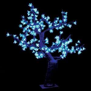 2.5 ft. Pre lit LED Cherry Blossom Tree   Blue Christmas Decor