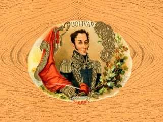 1322.Cuban Quality Design Cigar Label posterSimon BolivarBar Decor