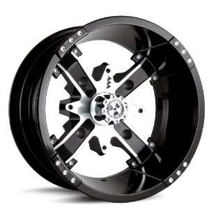 MotoSport Alloys M6 Nuke Black Machined 14x7   Inch Wheel