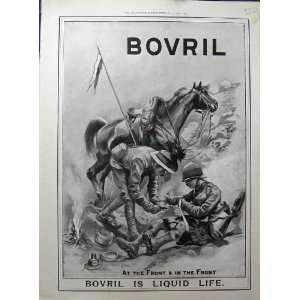 Advertisement Bovril Liquid Drink Army Men Soldier Home & Kitchen