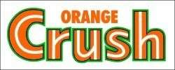 Vintage Orange Crush sticker decal 5x2