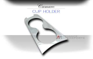2010 + CAMARO CHROME DRINK CUP HOLDER INSERT TRIM COVER