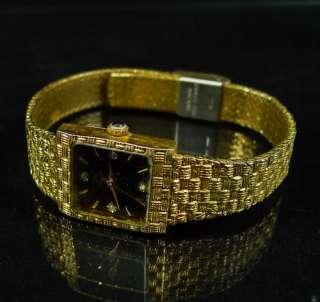CASSINI Wrist Watch LADIES Gold Tone QUARTZ Diamonds WOMEN Art Band