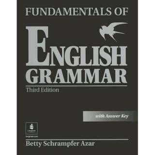 Fundamentals of English Grammar with Answer Key, Azar