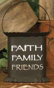 FAITH FAMILY FRIENDS Electric Metal Oval WAX WARMER NEW