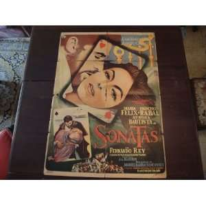 Original Mexican Movie Poster Sonatas Maria Felix Francisco Raval