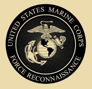 USMC MARINES FORCE RECON T SHIRT TAN LONG SLEEVE M XXXL