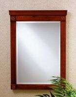 Cherry Framed Bathroom Vanity Decorative Mirror NEW 505