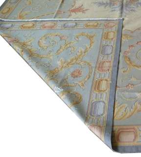 x12 Hand woven Wool French Aubusson Flat Weave Rug~Brand New~Free