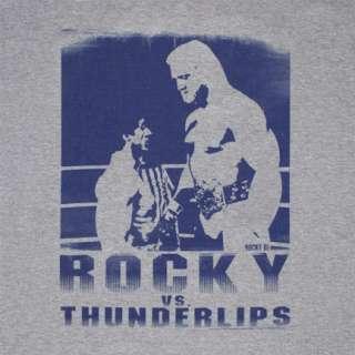 Rocky Balboa vs. Thunderlips Hulk Hogan Grey Graphic Tee Shirt