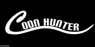 COON HUNTER DECAL STICKER WINDOW HUNTING