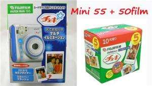 Fuji Polaroid Instant Camera Instax Cheki Mini 55 + 50
