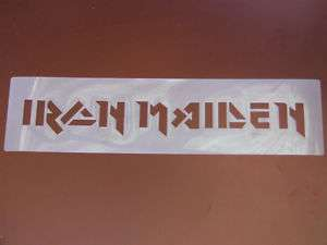 Iron Maiden Stencil Airbrush Painting Art
