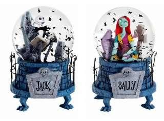 NIGHTMARE BEFORE CHRISTMAS JACK & SALLY SNOW GLOBES