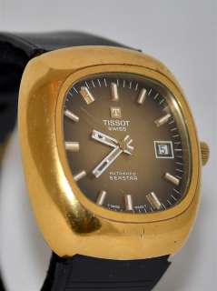 Vintage Tissot Seastar Automatic Swiss Made Mens Gold Plated Wrist