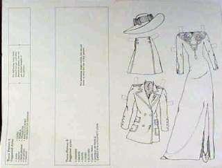 1991 BRIDE Original Designer Paper Doll Craft Kit