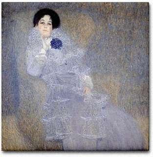 Gustav Klimt Ceramic Art Tile Portrait Marie Henneberg