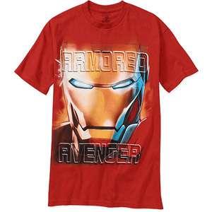 Avengers   Big Mens Iron Man Tee, Size 2XL Mens Big & Tall