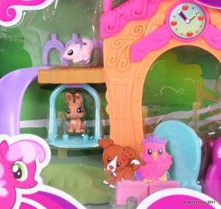 MY LITTLE PONY   CHEERILEE & SCHOOL HOUSE PLAYSET   MLP G4 FIM HASBRO