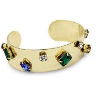 Cocotay Social Swarovski Crystal Small Stone Cuff Bracelet