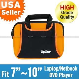 Neoprene 8 9 10 Laptop Netbook Case Bag Sleeve Orange