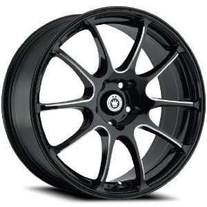 18x8 Konig Illusion (Gloss Black w/ Machined Spokes) Wheels/Rims 5x100