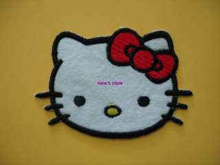 This is an order for 1 piece of Hello Kitty iron on / sew on patch.