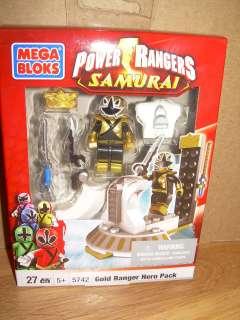 NIB Mega Bloks 5742 Power Rangers Samuria GOLD RANGER HERO PACK