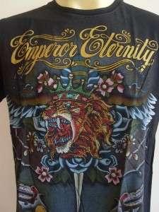 Emperor Eternity Glittering The Lion King Tattoo T shirt Black L